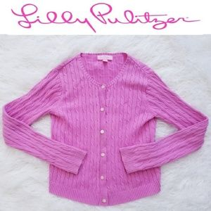 Lilly Pulitzer Pink Cable Knit Shrug Cardigan